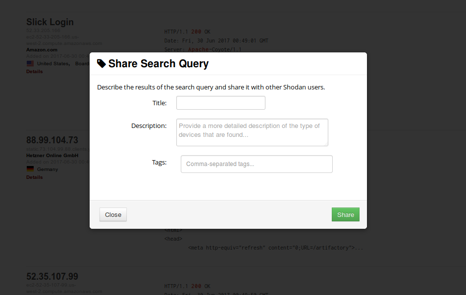 Navigating the Website - Shodan Help Center
